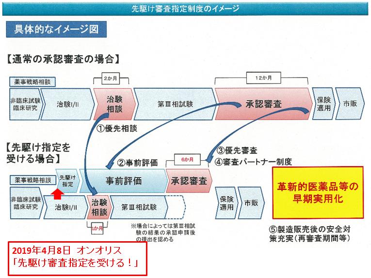 先駆け審査指定制度のイメージ
